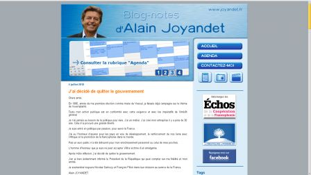 Screenshot blog de Joyandet