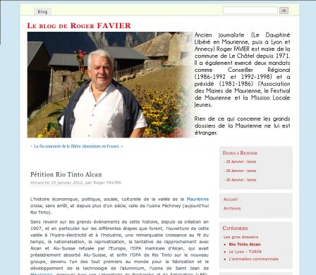 Capture blog de Roger Favier